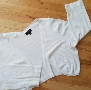 The Limited 3/4 Sleeve Bolero - White/XL